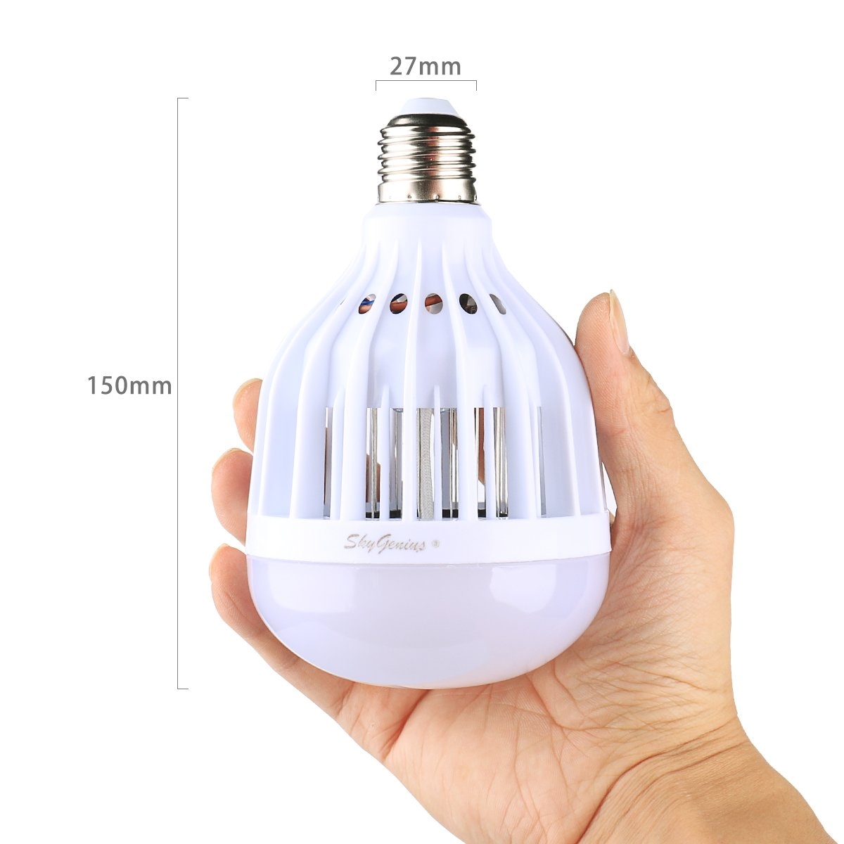 Amazon.com : LED Bug Zapper Light Bulb, Mosquito Killer For Outdoor Porch  Patio Back Yard Indoor House Rooms Garage Kitchen Barn, UV Lamp Trap And  600V ...