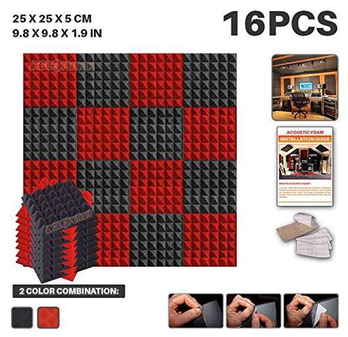 ace-punch-16-pack-black-and-red-self-adhesive-pyramid-acoustic-foam-panel-diy-design-studio-soundpro