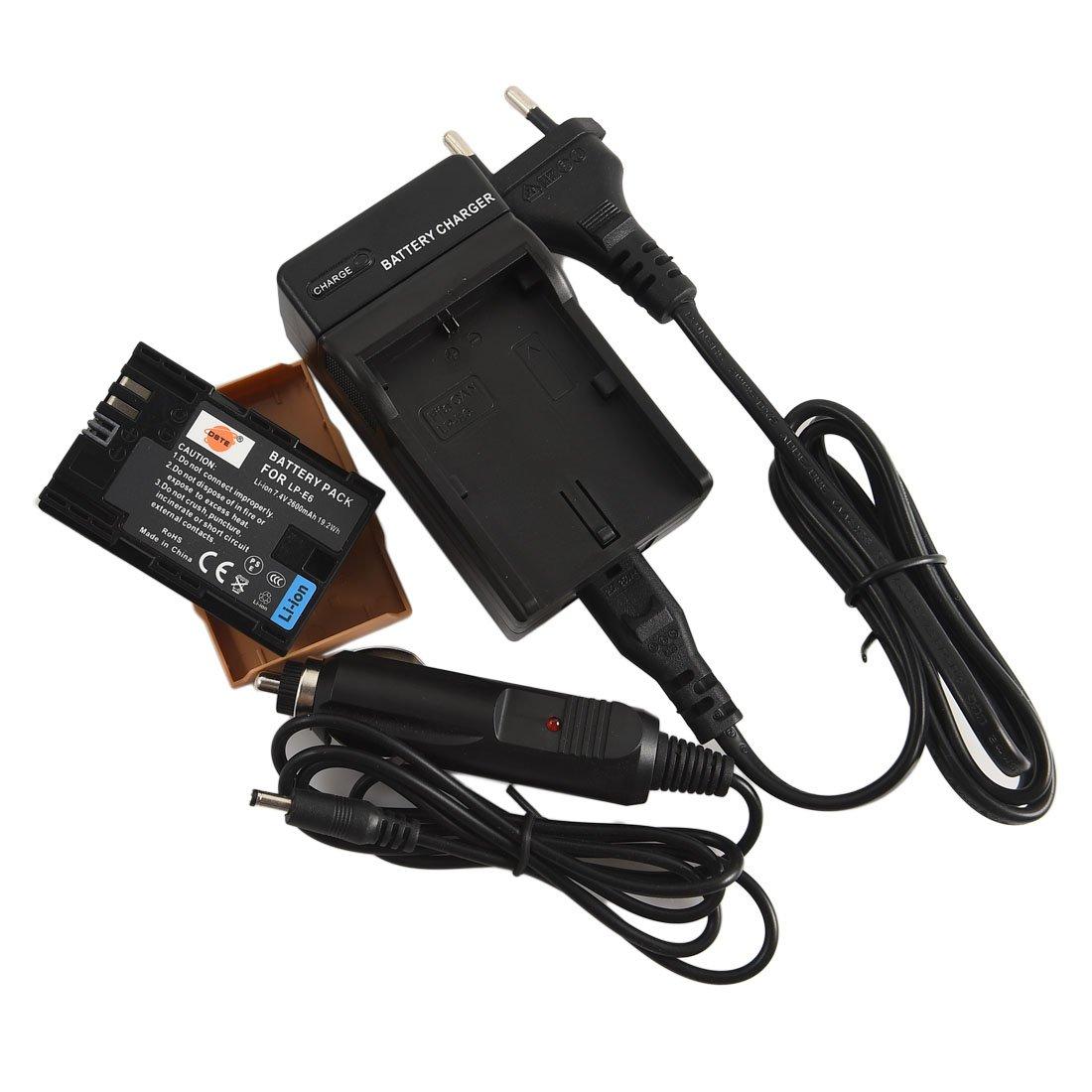 DSTE Repuesto Batería y DC88E Viaje Cargador kit para Canon LP-E6 EOS 5D Mark II/EOS 5D Mark III EOS 5DS 5DS R Eos 6D Eos 7D Eos 60D Eos 60Da EOS 70D