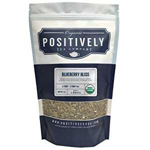 Positively Tea Company, Organic Blueberry Bliss Green Rooibos Tea, Loose Leaf, 1 Pound Bag
