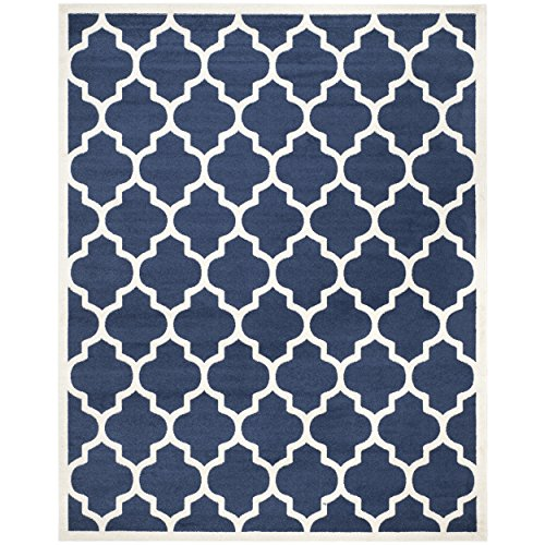 Marvelous Safavieh Amherst Collection AMT420P Navy And Beige Indoor/ Outdoor Area Rug  (9u0027 X 12u0027)