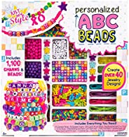 Just My Style ABC Beads By Horizon Group USA, DIY Jewelry Making Kit With 1000+ Charms & Beads, Alphabet B