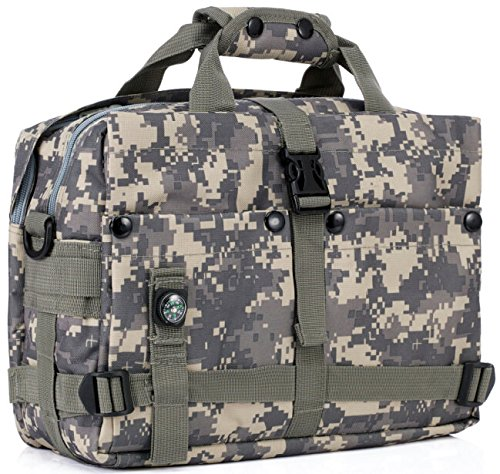 Travel Bug Halloween Costume (Tactical Camo Computer Bag With Compass and Strap Daypack Bag For Army Assault Bug Out Rucksack Outdoor Hiking Sport Camping Hiking Shooting Bag (ACU Camo))