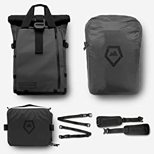 PRVKE Travel and DSLR Camera Backpack with Laptop/Tablet Sleeve and Rain Cover - Rugged Photography Bag- Photography Bundle (21 L, Black)