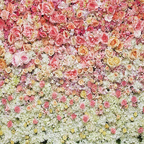 SJOLOON 10X10ft Red Floral Photography Backdrops Rose Photo Background Valentine's Day Vinyl Flower Backdrops for Photo Props - Photography Floral Backgrounds