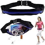 BOOLAVARD Borsa Elastico Doppia Cerniera Polifunzionali Sportivi Tasche Cintura Sport di Telefonia Mobile Marsupio Packs