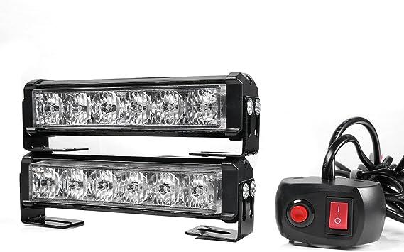24V 36W 12LED Giallo Gledto Ad Alta Intensit/à Faro Stroboscopica 12V 7 Modalit/à Flash Interruttore Law Enforcement LED Strobe Light Bar per Auto Camion SUV