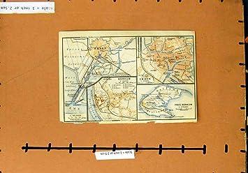 Emden Karte.Karte Deutschland Plan 1921 Emden Borkum Insel Borkum