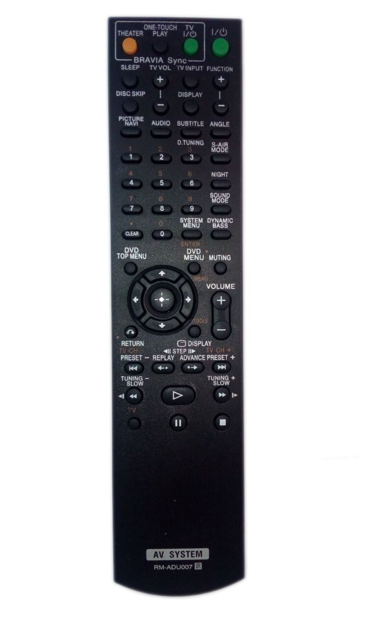 RM-ADU007 1-480-570-21 Remote Control Replaced for Sony DAV-HDX274 RMADU007A HCDHDX277 HCD-HDX287WC HCD-HDX576 Home Theater Audio/Video Receiver AV System