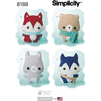 Simplicity Muster 8188 Schnittmuster gefüllt Fox, Wolf, Bär und Hase ...