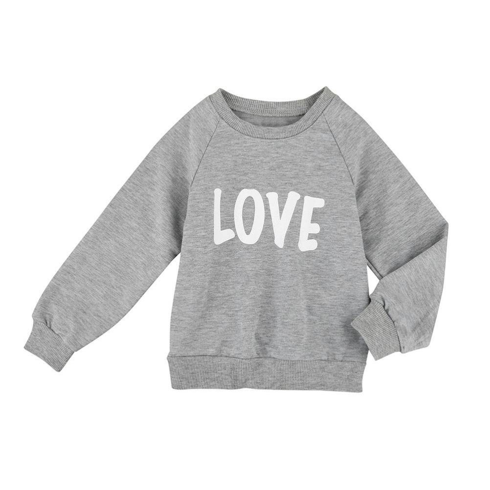 For 0-5 Years old Girls, Clode® Lovely Toddler Infant Baby Girl Long Sleeve Love Letter Print T Shirts Tops Pullover Sweatshirt Tops Clothes Clode-TS-00219