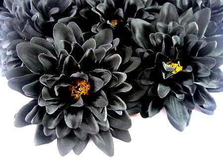12 black dahlia silk flower heads 4 artificial flowers dahlias 12 black dahlia silk flower heads 4quot artificial flowers dahlias head mightylinksfo