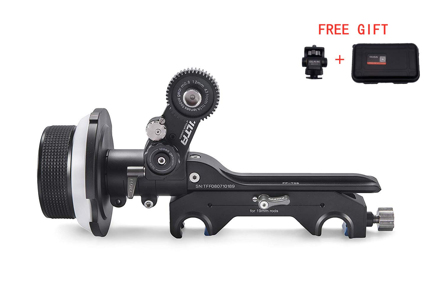 TILTA FF-T05 Single-Sided Cinema Follow Focus kit (with Safety case) for DSLR, Mirrorless, and Cinema Cameras,Hand Wheel with ARRI Standard Por by Tilta
