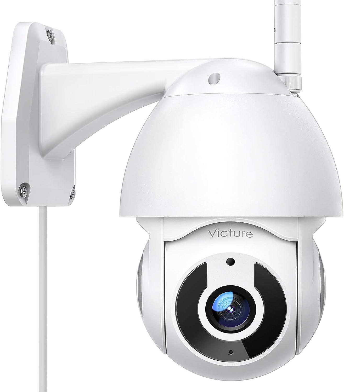 Victure Cámara WiFi Exterior FHD 1080P con Vista panorámica/inclinación de 360°, visión Nocturna, Impermeable, IP66, detección de Movimiento, ...