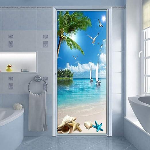 Removable Waterproof Luminous Toilet Bathroom Door Wall Sticker Mural Art Decal