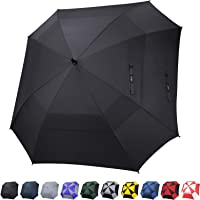 G4Free Extra Large Golf Umbrella Double Canopy Vented Square Umbrella Windproof Automatic Open 62 Inch Oversize Stick Umbrella for Men Women