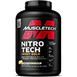 MuscleTech NitroTech Whey Gold, 100% Whey Protein Powder, Whey Isolate and Whey Peptides, Double Rich Chocolate, 5.5…