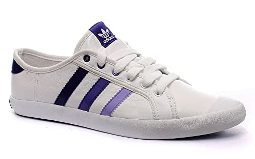 first rate 7f681 a887c Adidas Originals Adria Low Sleek WhitePurple Womens Sneakers, Size 9