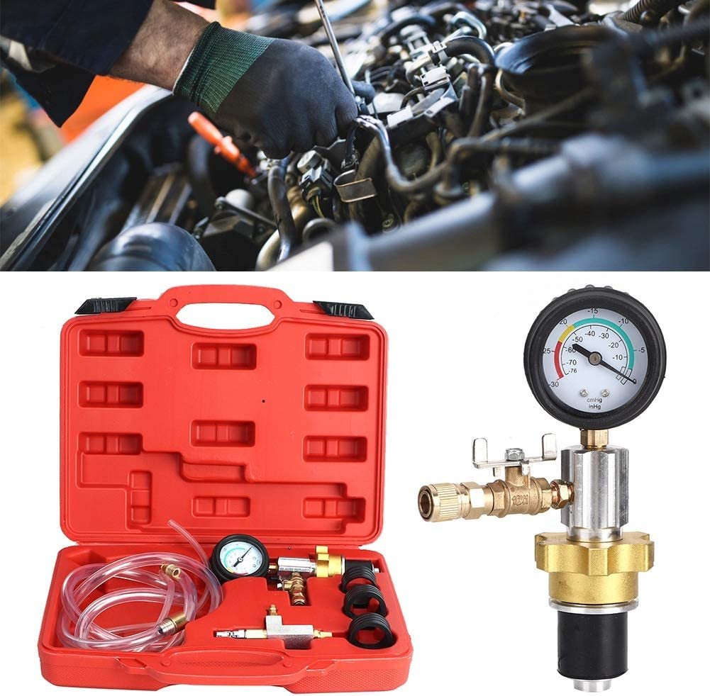Vacuum Cooling System Car Radiator Coolant Refill /& Purging Tool Gauge Kit Professional Car Radiator Vacuum Coolant Purge Refill Antifreeze Changer Cooling System Tool Kit With Air Pump for Most Cars