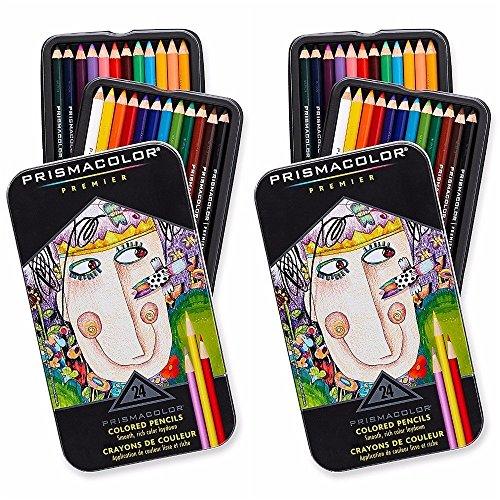 Prismacolor Premier Colored Pencils, Soft Core, 24-Count, 2-Pack