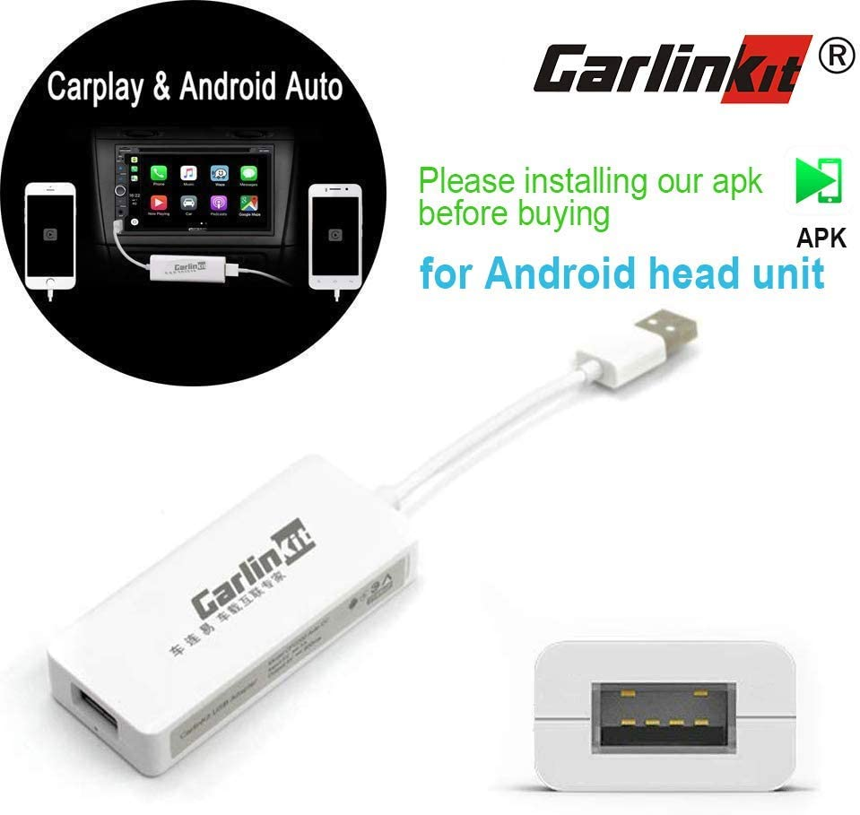 Carlinkit Wired CarPlay Dongle Android Auto for Car Radio with Android System, Install The Autokit app on Car Radio, Support MirrorScreen/iOS13/SIRI/Google Maps, NOT for Factory OEM Car Radio
