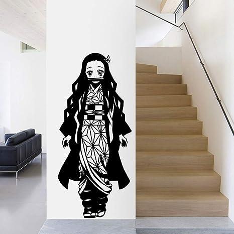 Demon Slayer Tatuajes de pared Kimetsu no Yaiba Vinilo Kamado Nezuko Etiqueta de la pared Etiqueta de la pared 42x40cm: Amazon.es: Bebé
