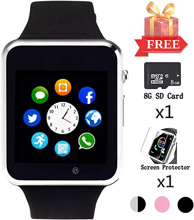 Smart Watch for Android Phones Smartwatch for Men Women Smart Watches with Camera Bluetooth Watch with SIM Card Slot Sports Sweatproof Smartwatch Make
