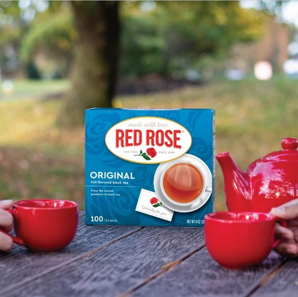 Red Rose Original Premium Blended Tea 100 ct (Pack of 2)