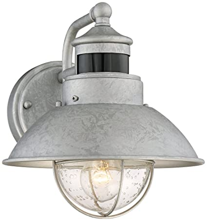 galvanized outdoor light industrial oberlin 9quot high galvanized steel motion sensor wall light amazoncom 9