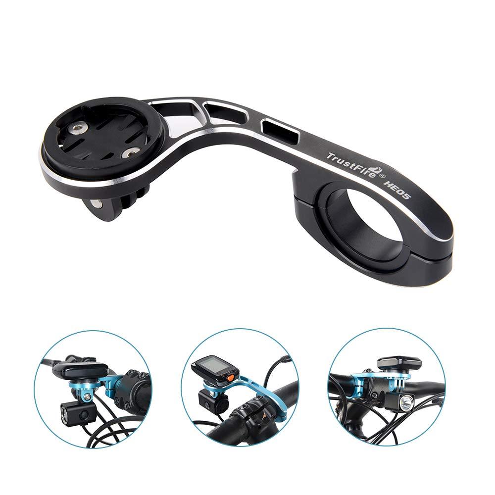 TrustFire Lisibilité Support de Vélo pour Garmin Edge Compteur de Vélo, Cyclisme, Support pour GPS Compatible avec 31,8mm 25,4mm Guidon de Vélo 8mm 25 4mm Guidon de vélo Noir HE05