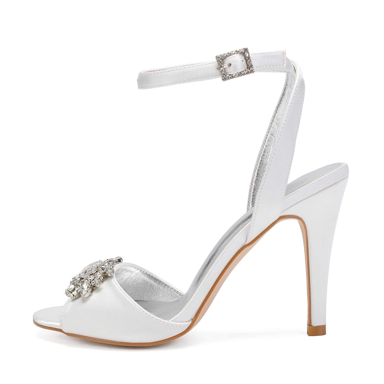 LHWAN chaussures de mariée des femmes à bout ouvert talons