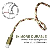 AOSON Micro USB Cable [3pcs 6ft] Braided Fast