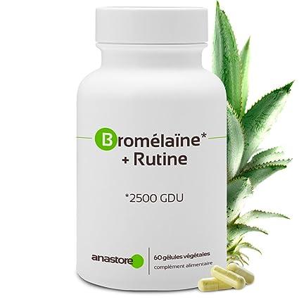 BROMELINA + RUTINA * 375 mg / 60 cápsulas * Antiinflamatorios ...