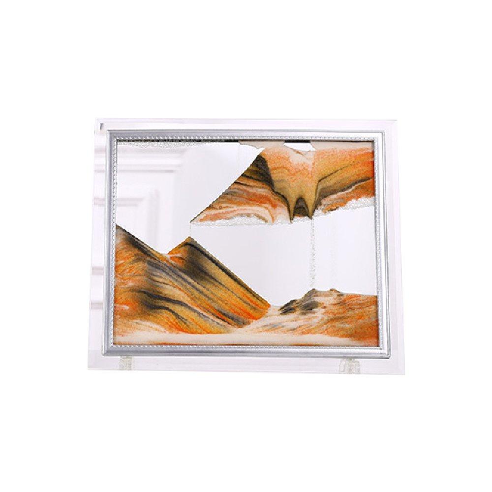 YULAN Ambos Lados Color Diferente Granulado en Movimiento Imagen Paisaje en Abstracto 3D Vision Granallado en Paisaje Movimiento Imagen Flujo de Arena Pintura 7e42fe