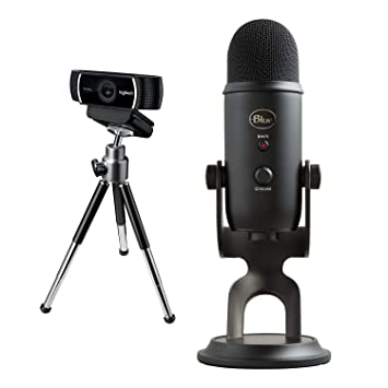 5bf7fc648ff Logitech C922 Pro Stream Webcam, Full HD 1080p Streaming with Tripod and  Free 3-