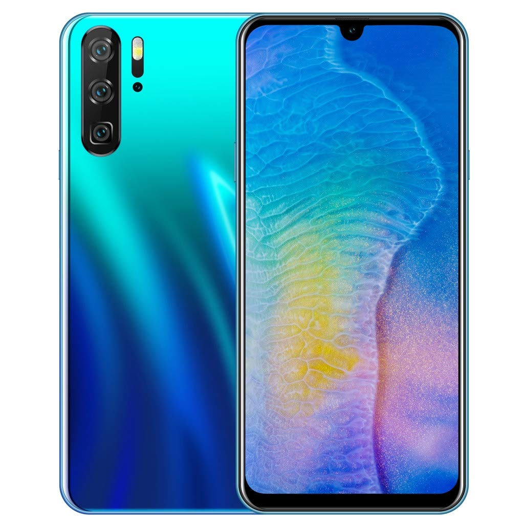 Unlocked Smart Cellphones | 6.26 inch HD Display Android 8.1 Cell Phones 3 Camera GSM/WCDMA 3G WiFi Mobile Phones | 2GB RAM 32GB ROM Ultrathin Smartphone Telephones (Blue) by Inkach - Cell Phoes