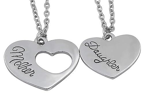 buscar el más nuevo código promocional nuevo estilo veuer 2 x Collares de corazón para madres e hijas, regalo de amor para la  familia para regalar en Navidad, el Día de la Madre para su esposa