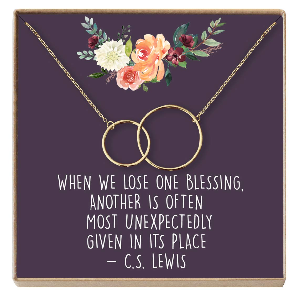Dear Ava Miscarriage Gift Necklace: Loss of Baby, Sympathy Gift, Infant  Loss Gift, Loss of Child Gift, in Loving Memory, 2 Interlocking Circles