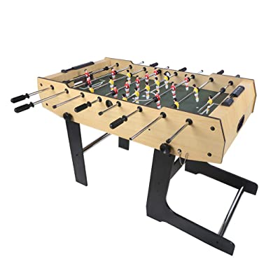 Funmall 48 inch Folding Soccer Foosball Table for Adults Kids Room Sports Game : Sports & Outdoors [5Bkhe0301847]