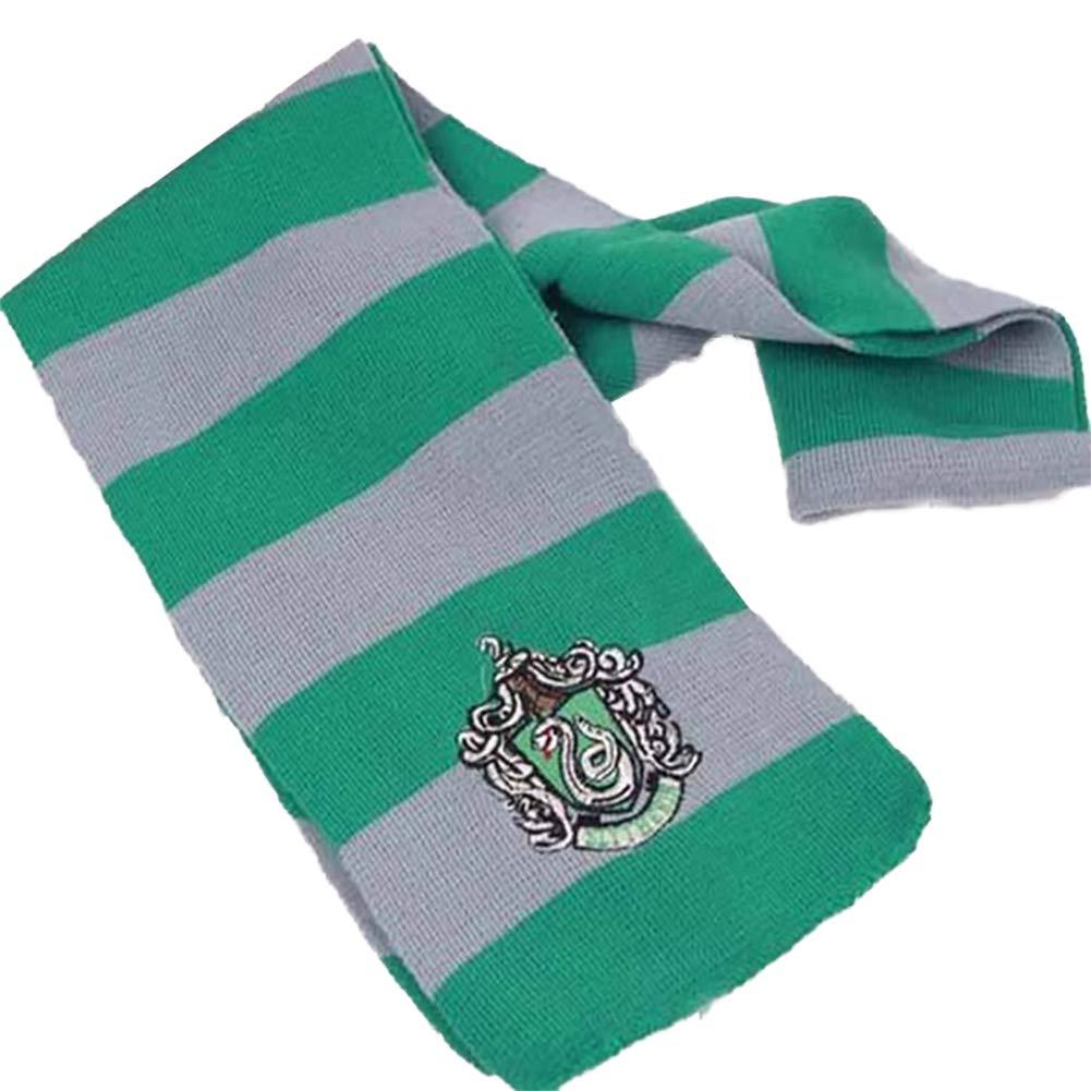 Ndier Lana Harry Potter Slytherin de Punto Bufanda del Invierno de Punto de Cosplay del Traje de Calentamiento Abrigo de la Bufanda 6.7x 63 Pulgadas