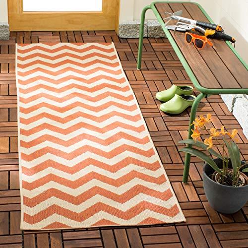 Safavieh Courtyard Collection CY6244-241 Terracotta and Beige Indoor/ Outdoor Runner (2'3