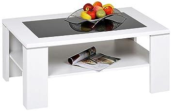 AlfaTische Santos M Coffee Table X Cm With Black Glass - Santos coffee table