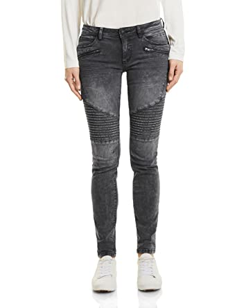Street One Damen Slim Jeans 371046 Raja, Grau (Mid Grey Random Bleach Wash  11131 3347b8fff2