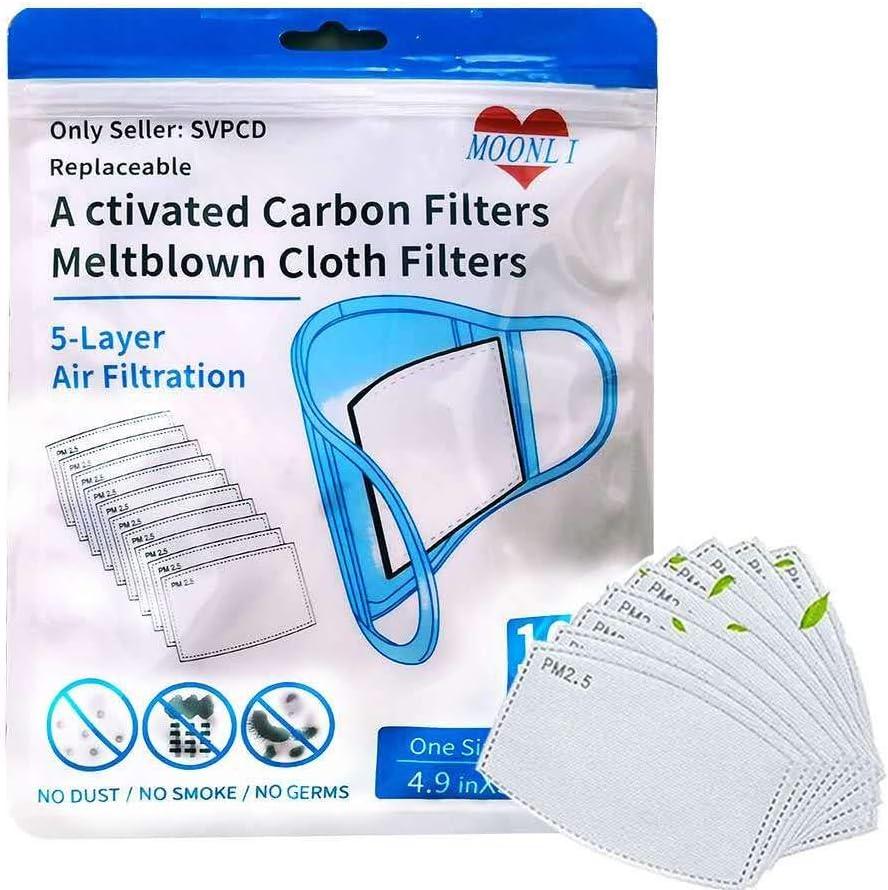 50Pcs Replaceable Activated Carbon Filters Meltblown Cloth Filters