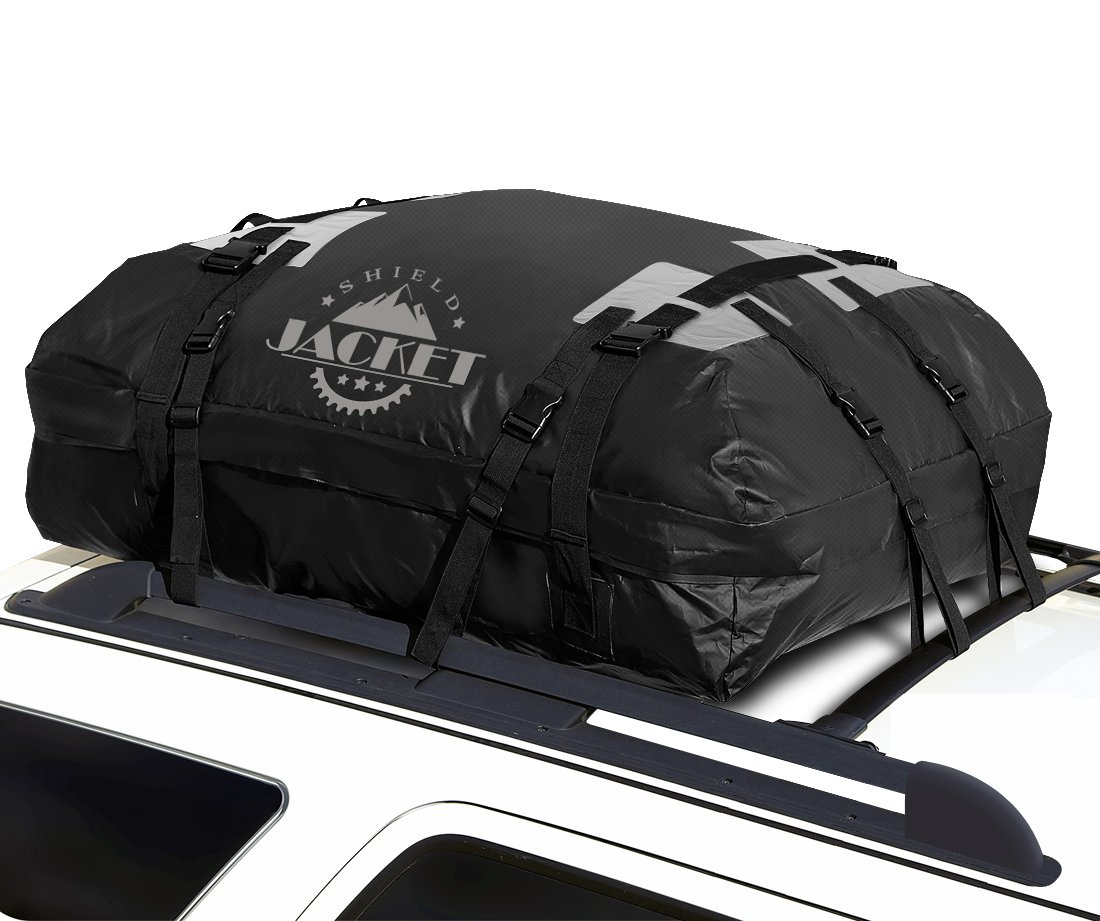 Amazon.com: SHIELD JACKET Waterproof Roof Top Cargo Luggage Travel Bag (15  Cubic Feet)   Roof Top Cargo Carrier For Cars, Vans And SUVs   Great For  Travel ...