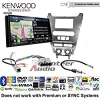 Volunteer Audio Kenwood Excelon DNX994S Double Din Radio Install Kit with GPS Navigation Apple CarPlay Android Auto Fits 2008-2011 Focus