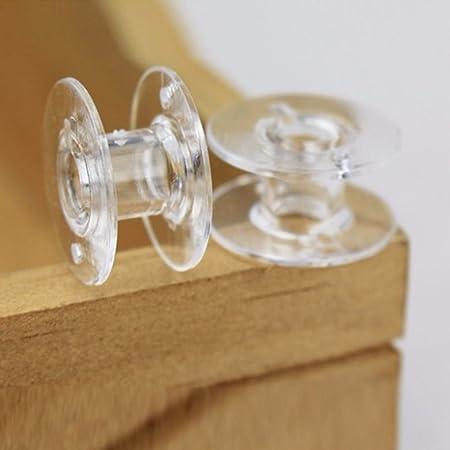 Regard L 25pcs de plástico Transparente para máquinas de Coser Hilo de la canilla Cadena vacía Carretes: Amazon.es: Hogar