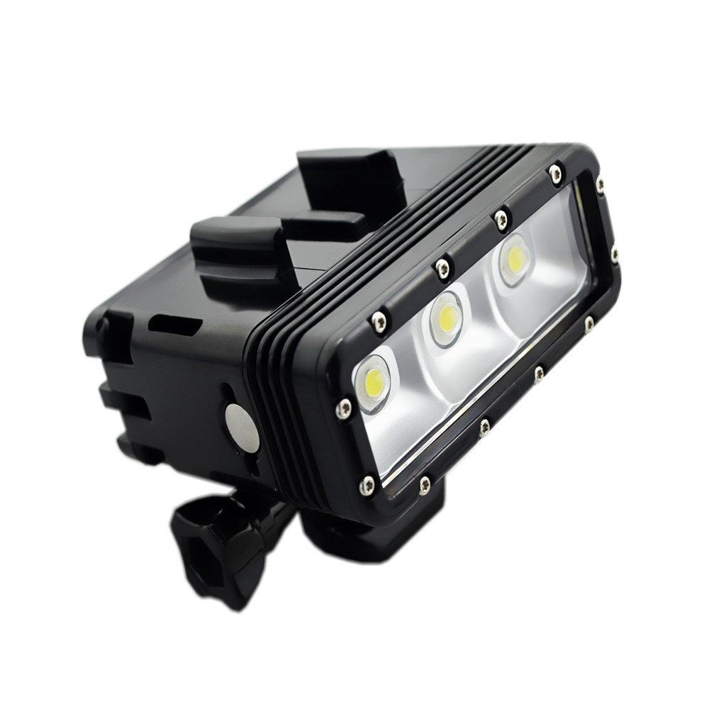 Tolifo Waterproof Underwater Diving LED Video Light Fill Light 40m Underwater High Power Dimmable for GoPro Any Action Cameras