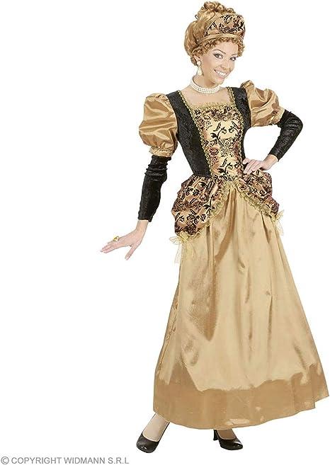 WIDMANN Medieval Queen Costume (Dress, Wire Hoop, Headpiece), Size ...