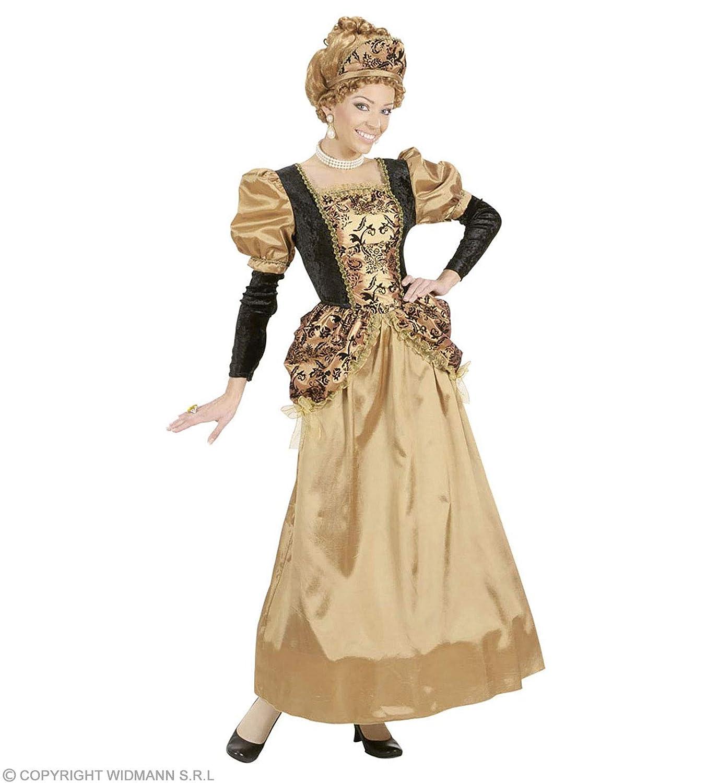 Medieval Queen Costume (Dress, Wire Hoop, Headpiece), Size XL (disfraz)